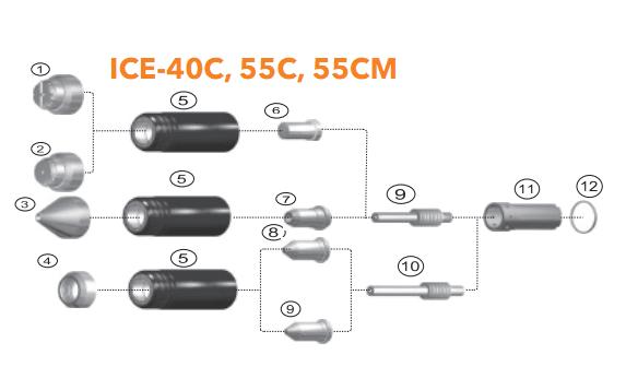 Điện cực plasma ICE-40 Miler