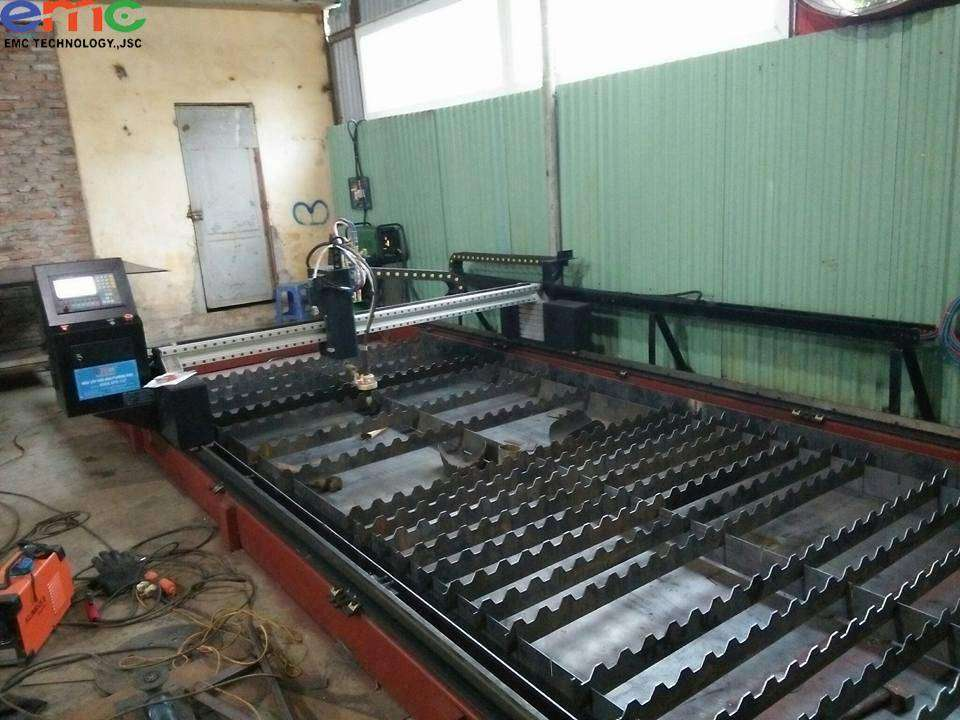 Lắp đặt máy cắt plasma cnc 2060 tại Quạt Công Nghiệp Minh Toàn
