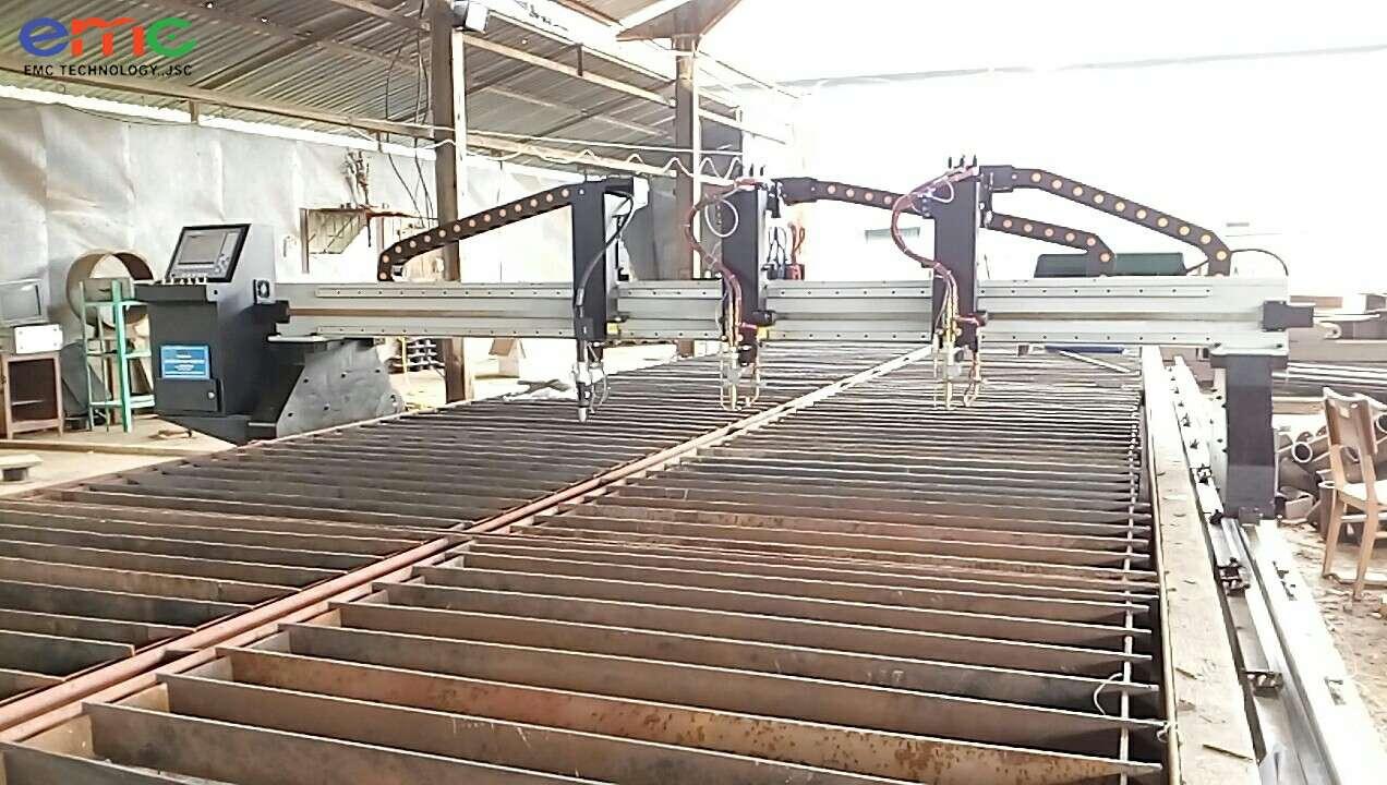 Lắp máy cắt CNC plasma tại Hà Nội