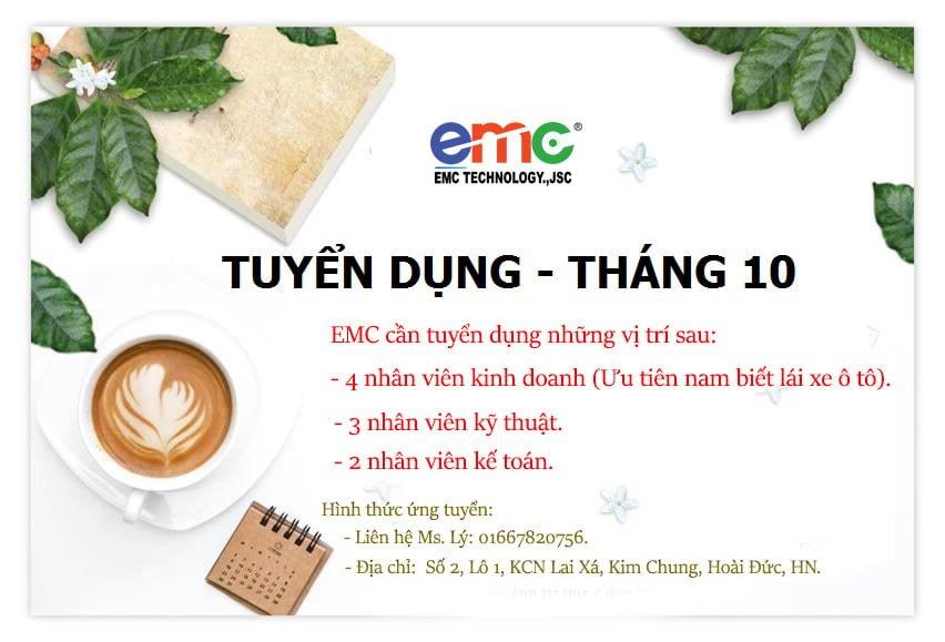 EMC tuyển dụng nhân viên kinh doanh tháng 11/2018