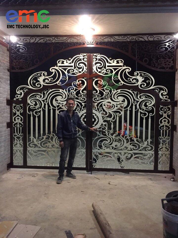 mẫu cổng sắt đẹp nhất hiện nay