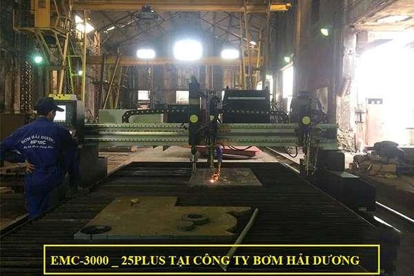 Máy cắt Plasma CNC EMC-3000 nguồn 25 Plus tại Hải Dương