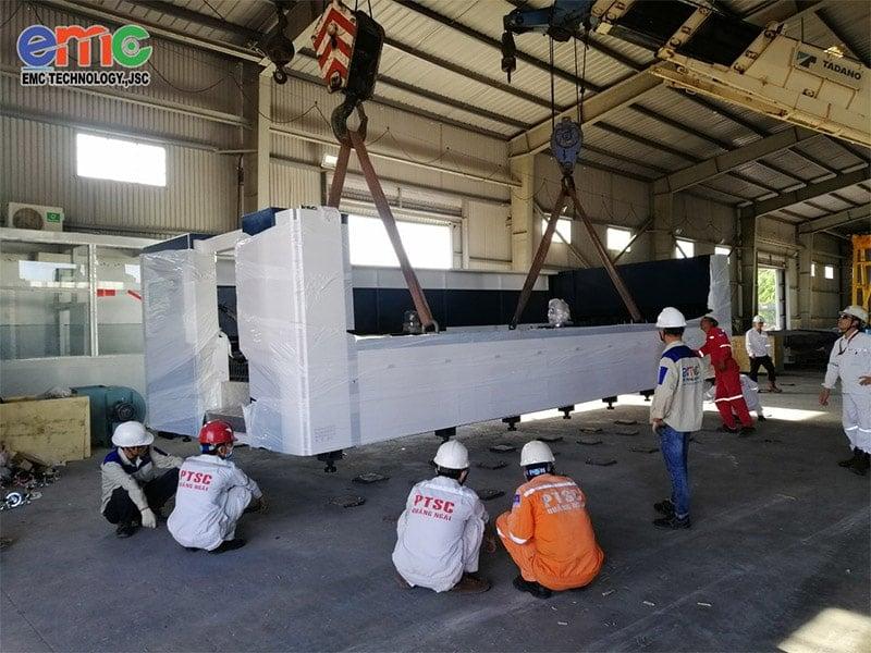 PTSC Quảng Ngãi lắp đặt máy cắt laser emc