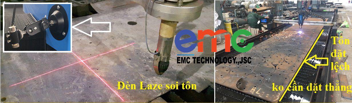 Hệ thống đèn Laser căn tôn trong máy cắt cnc