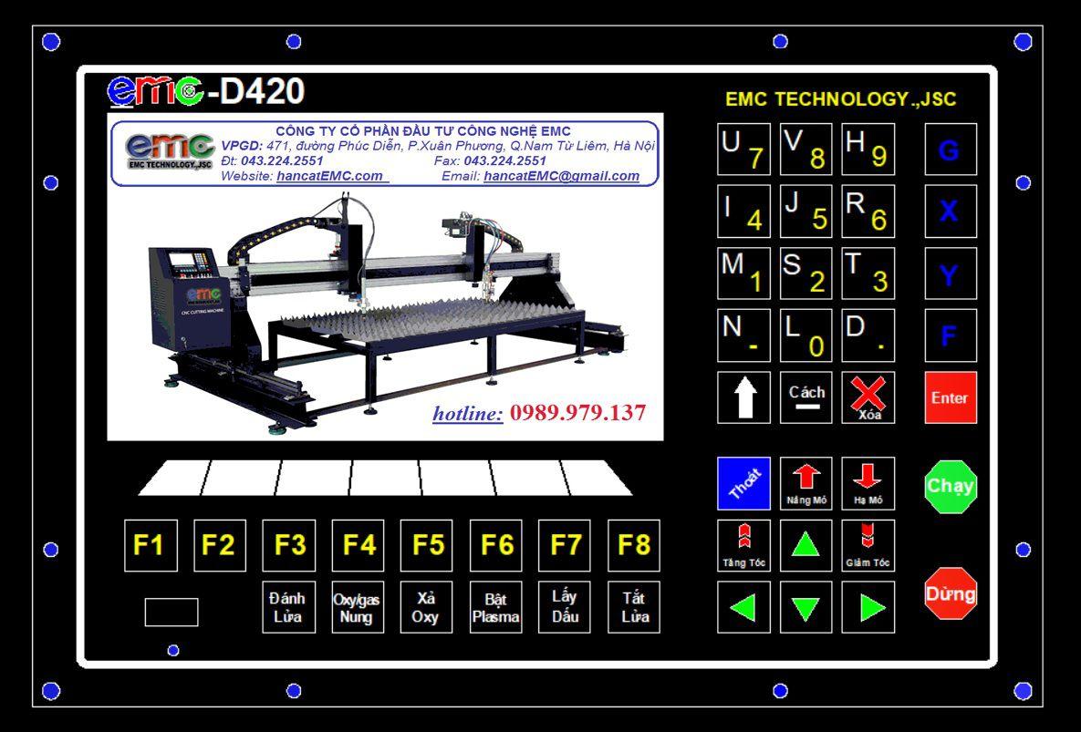 Bộ điều khiển máy CNC Mini EMC-D420
