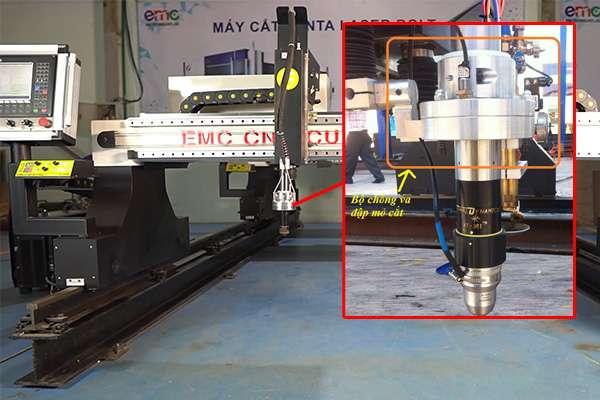 Bộ chống va đập trên mỏ cắt plasma cnc