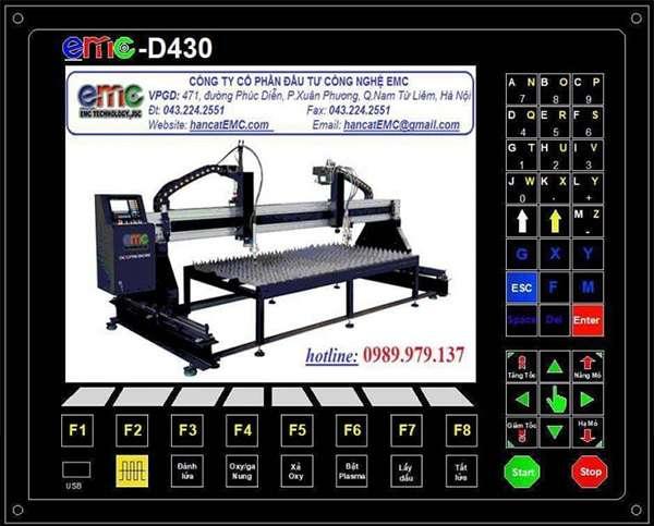 Bộ điều khiển máy cnc mini EMC-D420 với giao diện hoàn toàn bằng Tiếng Việt
