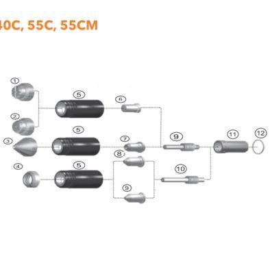 phụ kiện điện cực plasma miler