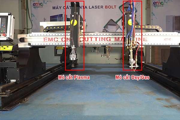 máy cắt cnc plasma có hai chế độ cắt plasma và gas