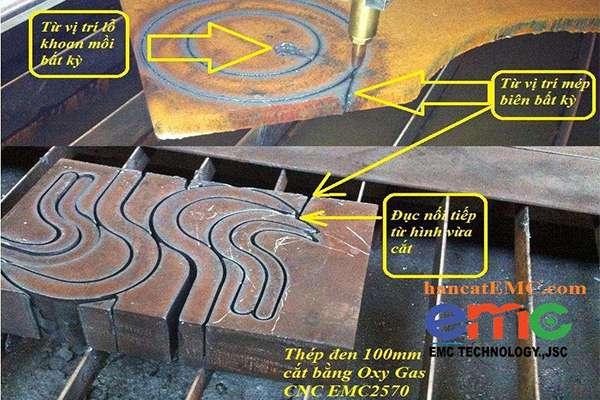 máy cắt cnc plasma có chức năng cắt từ biên