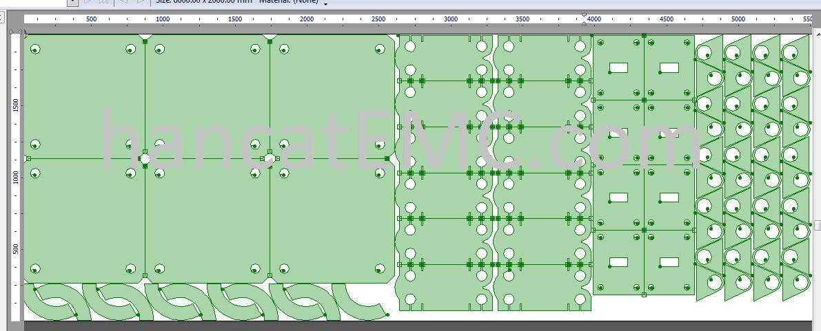 Sử dụng AutoNest - tự động tính toán sắp xếp phôi tối ưu