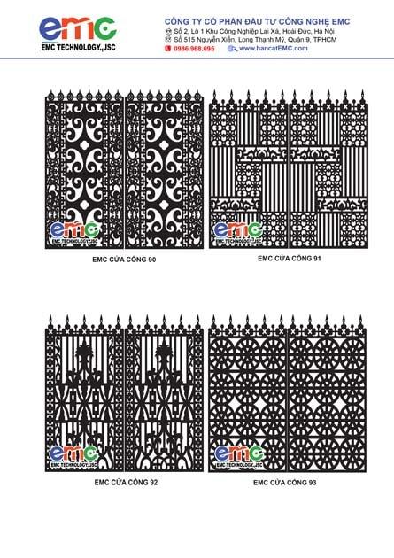 132 mẫu cửa cổng cnc, hoa văn đẹp nhất
