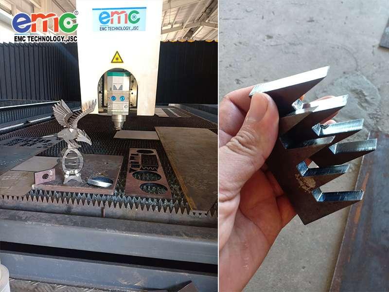 máy cắt laser fiber nguồn 4kw tại PTSC quãng Ngãi
