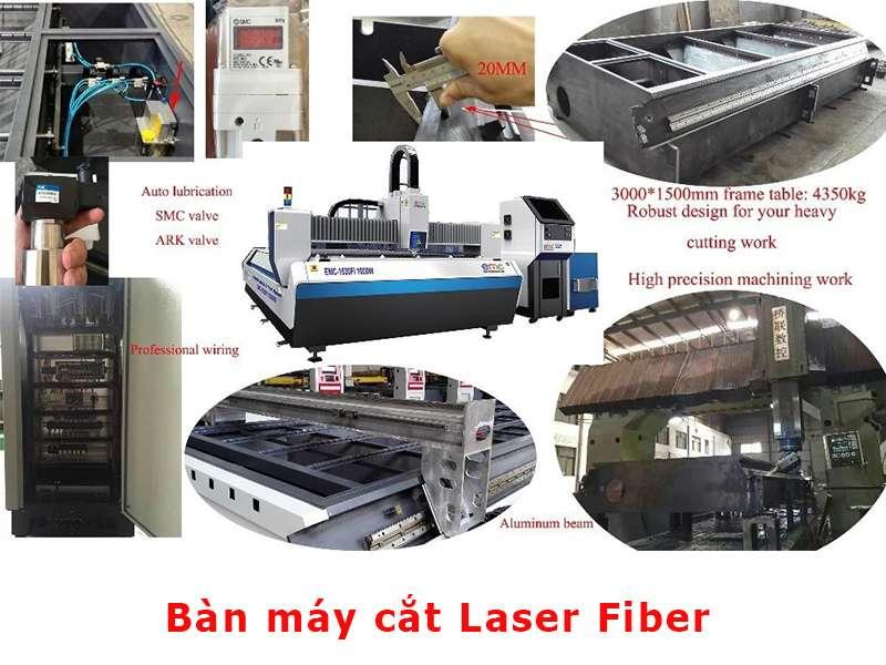 bàn máy cắt laser fiber