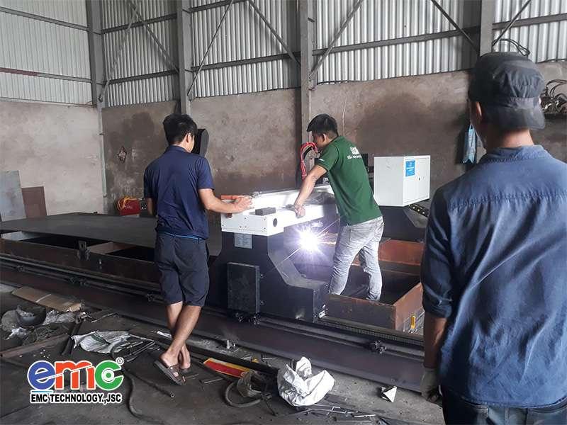 Máy cắt Plasma CNC lắp đặt tại Bắc Ninh