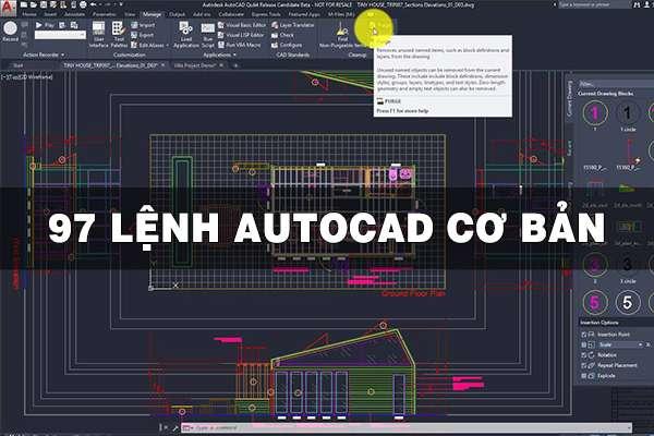97 lệnh cơ bản trong AutoCAD cho người mới bắt đầu