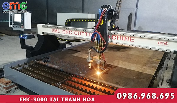 Máy cắt plasma cnc EMC 3000 tại Thanh Hóa
