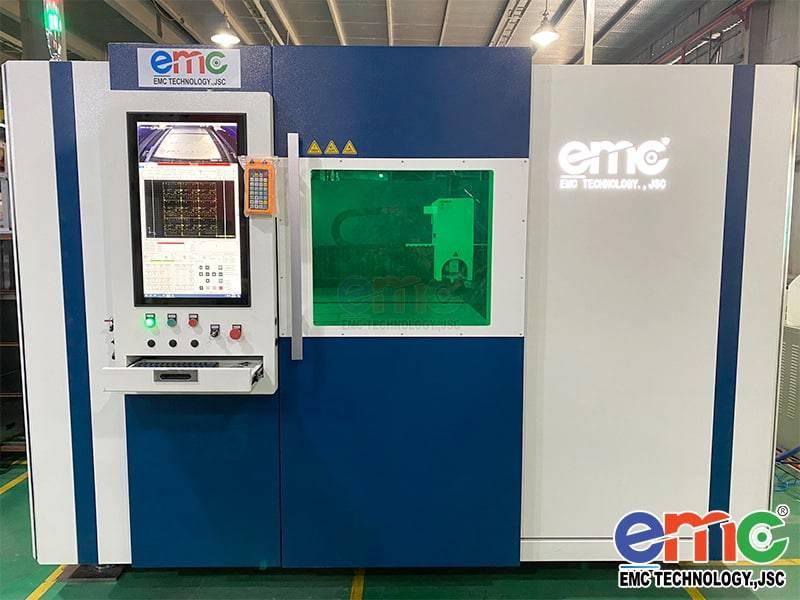 Máy cắt Laser Fiber EMC bàn chuyển đổi