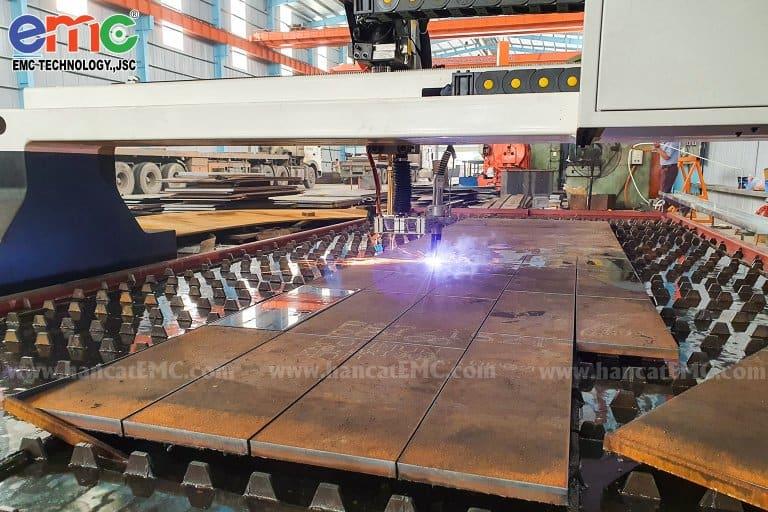máy cắt plasma cnc emc-3000 tại Đa Liên Steel