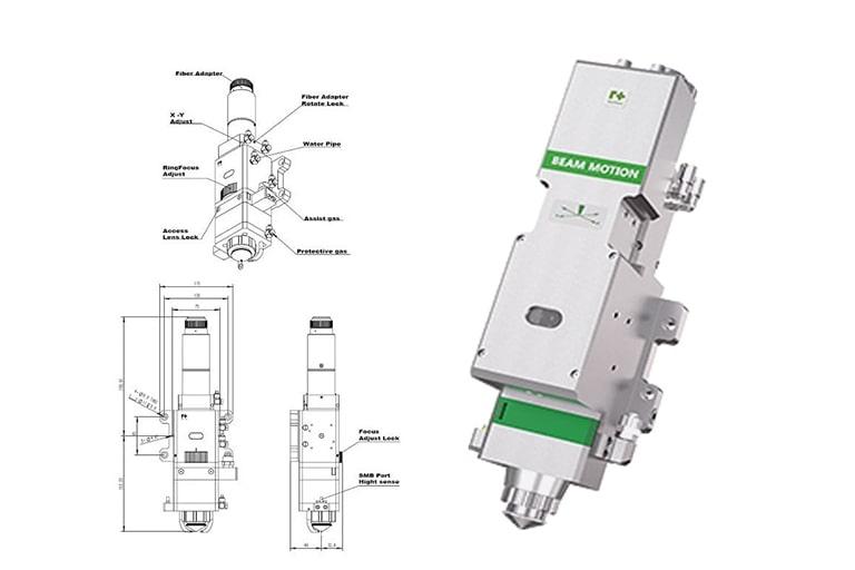 Đầu cắt laser là linh kiện không thể thiếu trong máy cắt laser